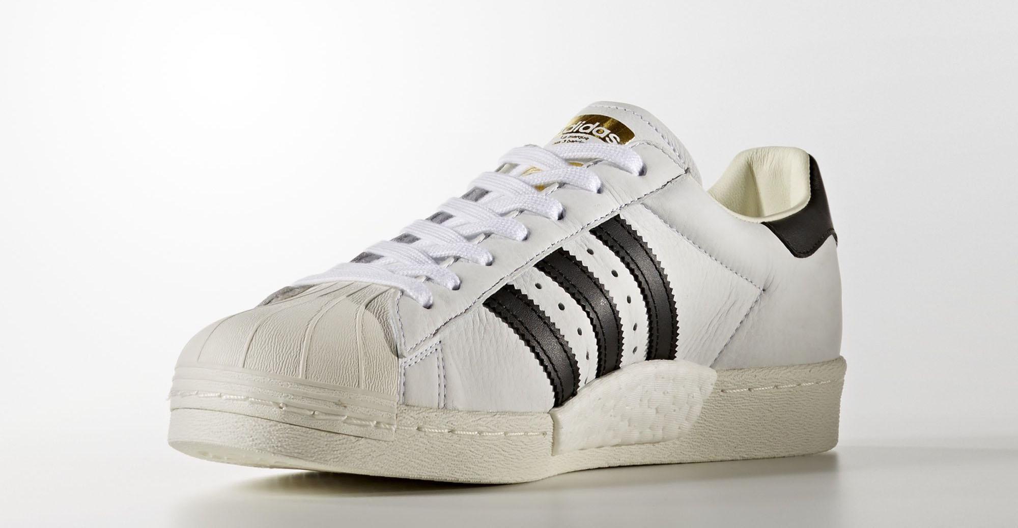 Adidas Superstar Boost White Black