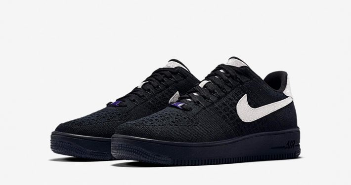 Nike Air Force 1 Ultra Flyknit Low Black Metallic Silver