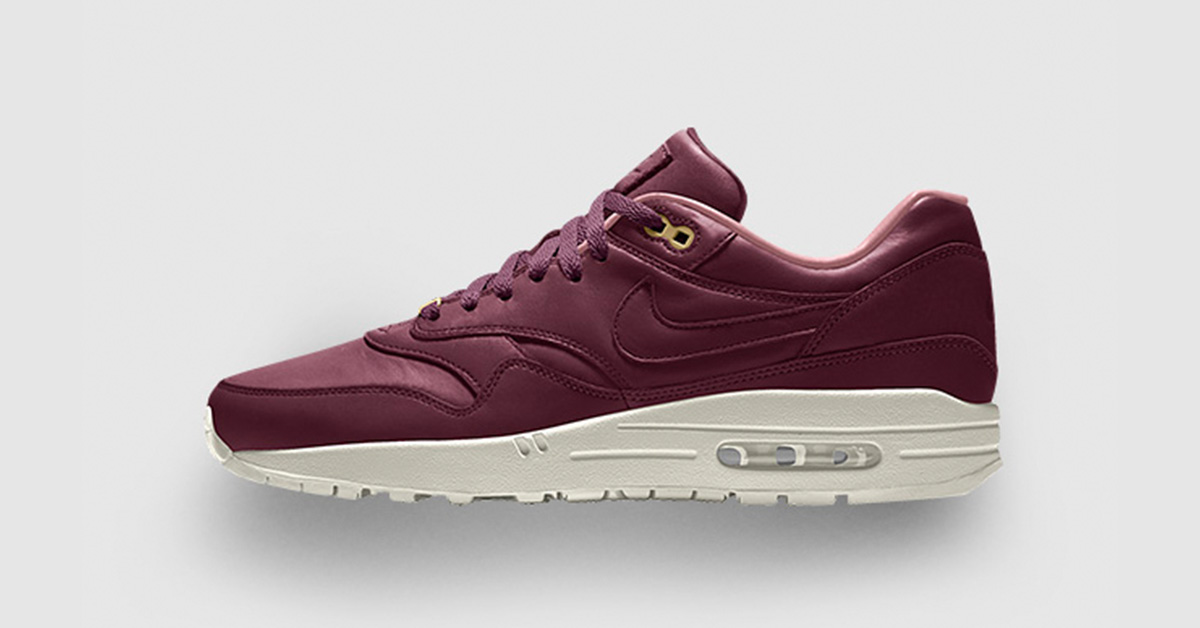 Nike Air Max 1 iD Maroon Premium Leather