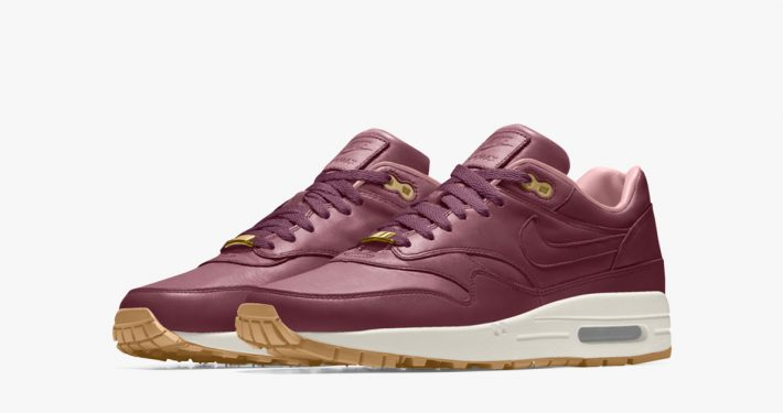 Nike Air Max 1 iD Premium Leather Night Maroon