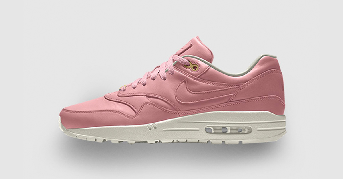 Nike Air Max 1 iD Pink Premium Leather