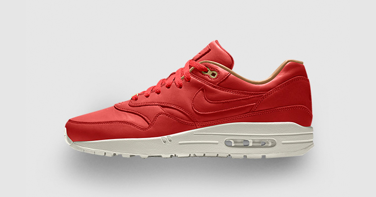 Nike Air Max 1 iD Red Premium Leather
