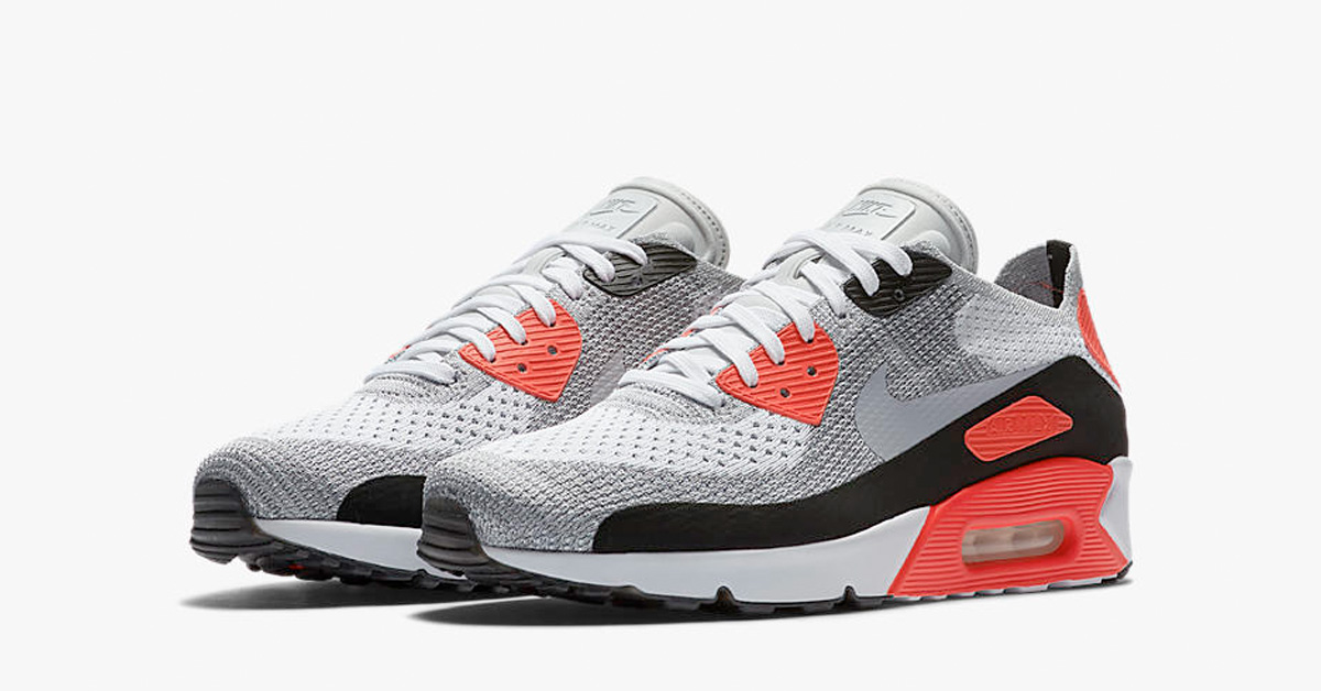 Womens Nike Air Max 90 Ultra Flyknit Infrared Next Level Kickz