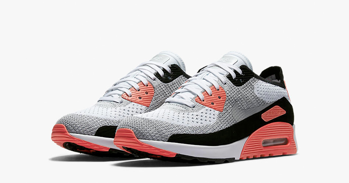 the latest dc78b e5348 Womens Nike Air Max 90 Ultra Flyknit Infrared