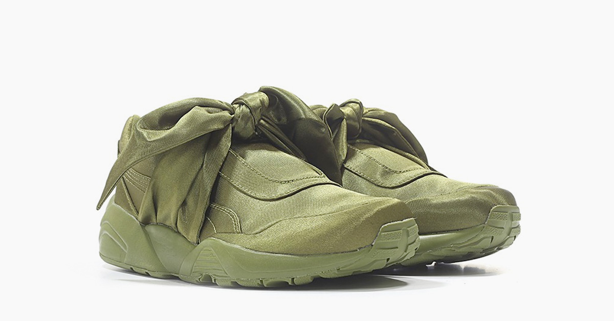 Rihanna x Puma Bow Sneaker Olive