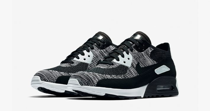 Womens Nike Air Max 90 Ultra Flyknit Oreo