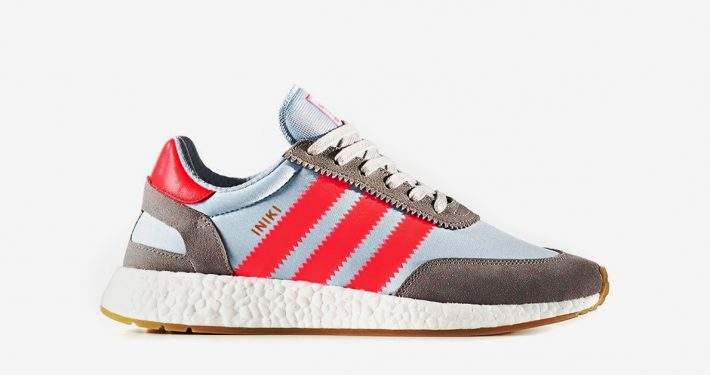 Adidas Iniki Solid Grey Turbo Red