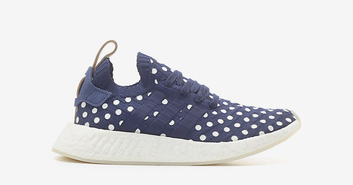 Womens Adidas NMD R2 Collegiate Navy Dots