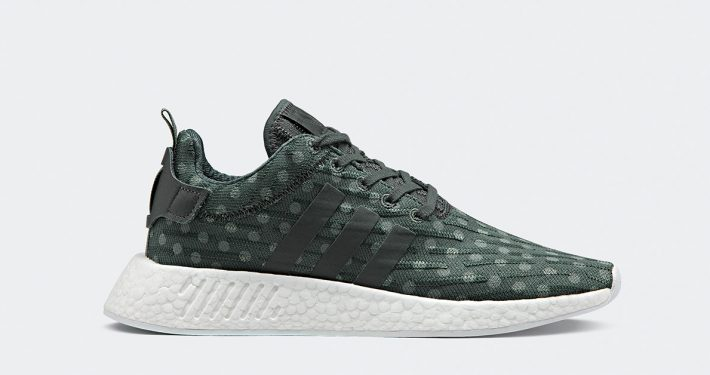 Womens Adidas NMD R2 PK Green Dots