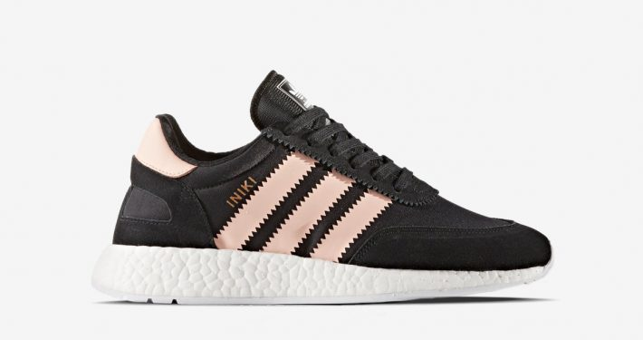 Womens Adidas Iniki Core Black Haze Coral