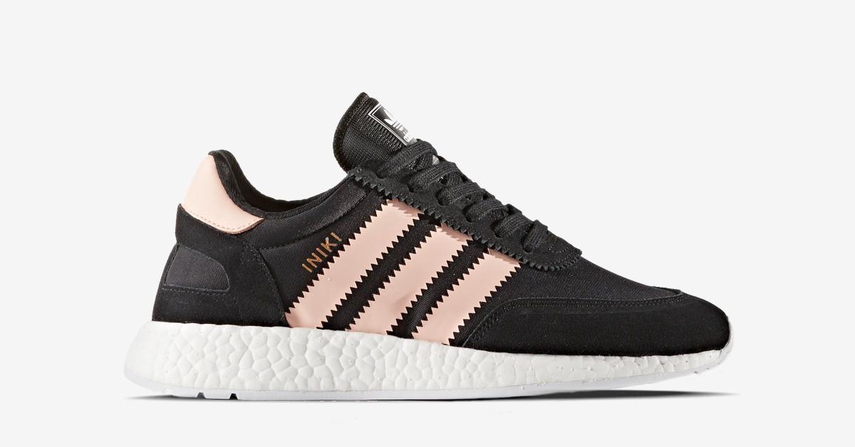 Womens Adidas Iniki Core Black Haze Coral
