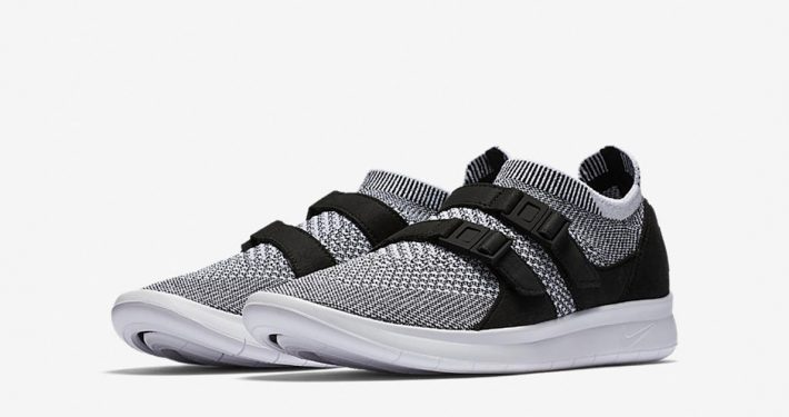 Womens Nike Air Sock Racer Ultra Flyknit Black White