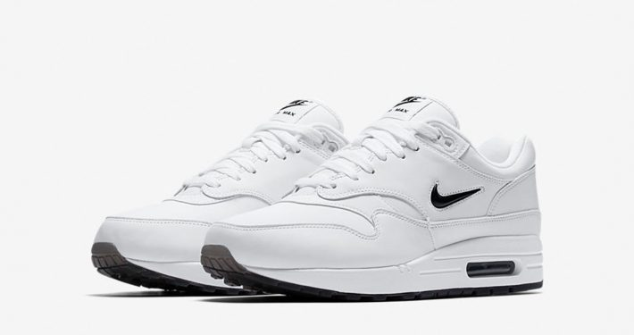 Nike Air Max 1 Jewel Swoosh White Black