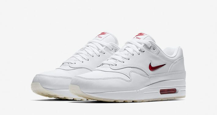 Nike Air Max 1 Jewel Swoosh White University Red