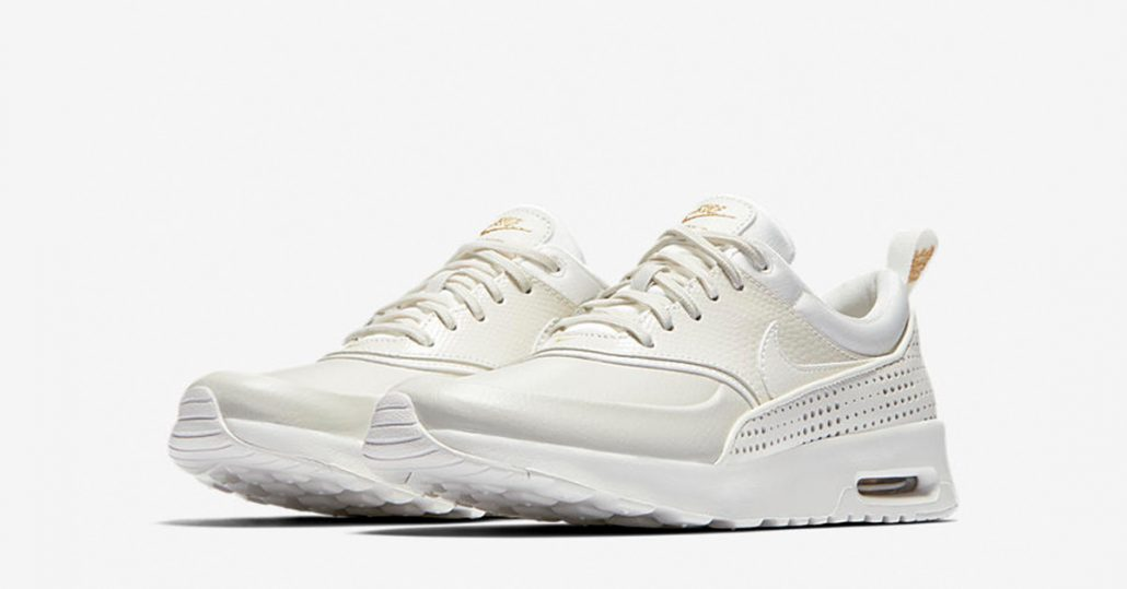 nike air max thea premium summit white gold next level kickz. Black Bedroom Furniture Sets. Home Design Ideas