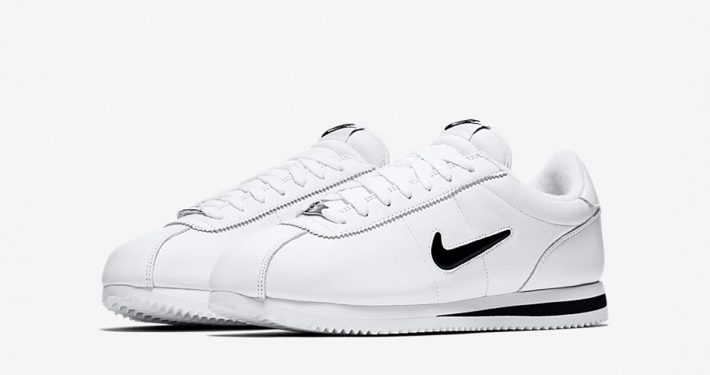 Nike Cortez Jewel Swoosh White Black