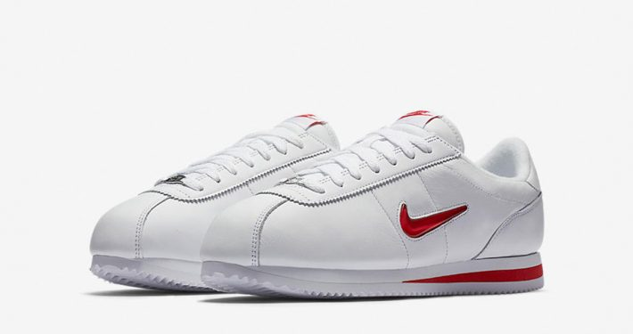 Nike Cortez Jewel Swoosh White University Red