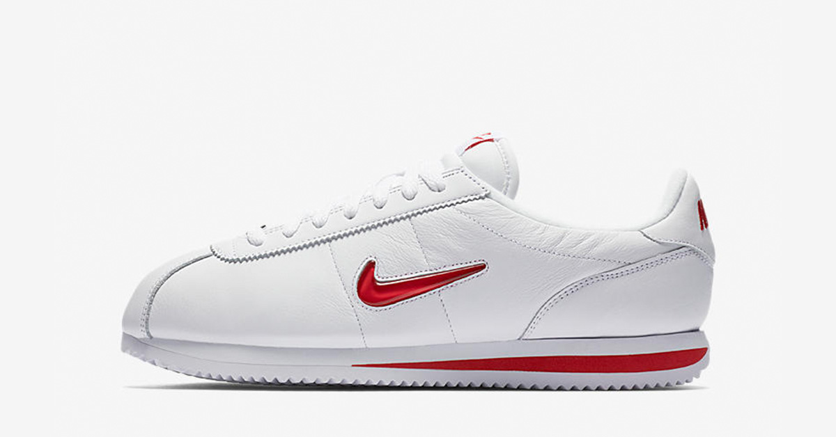 Nike Cortez Jewel Swoosh White University Red