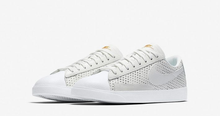Womens Nike Blazer Low Premium Summit White Gold