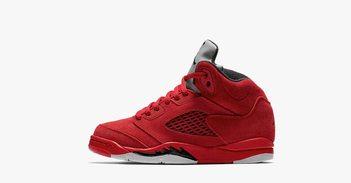Little Kids Nike Air Jordan 5 Retro Flight Suit University Red