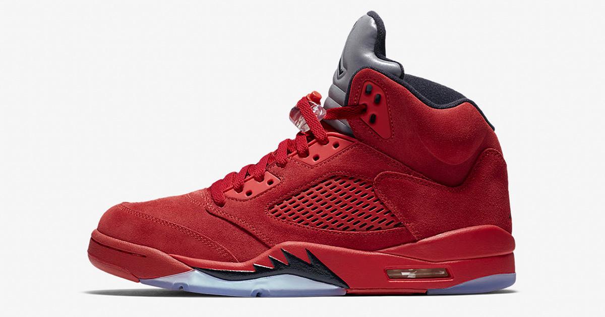 Nike Air Jordan 5 Retro Flight Suit University Red
