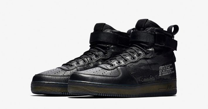 Nike Special Field Air Force 1 Mid Black Cargo Khaki