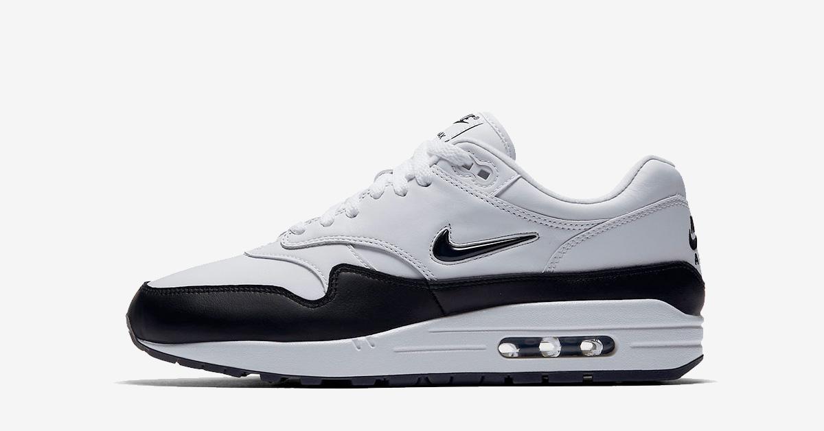 Nike Air Max 1 Jewel Swoosh Black White
