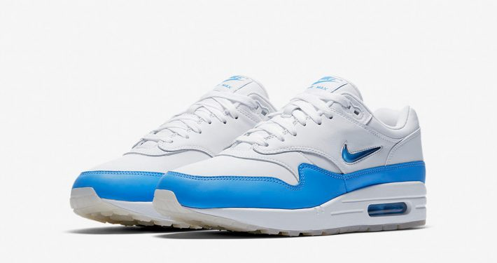 Nike Air Max 1 Jewel Swoosh White University Blue