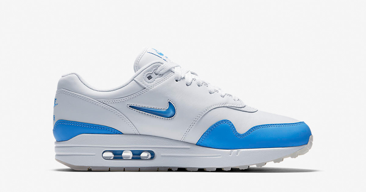 Nike Air Max 1 Jewel Swoosh White University Blue