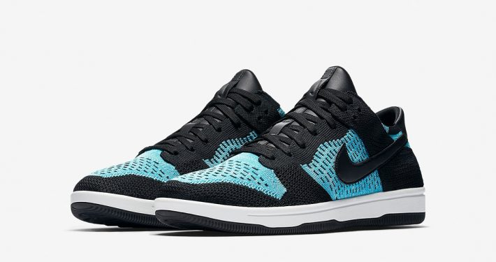 Nike Dunk Low Flyknit Black Chlorine Blue