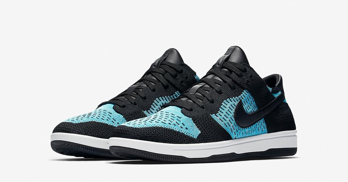 Nike Dunk Low Flyknit Black Chlorine Blue