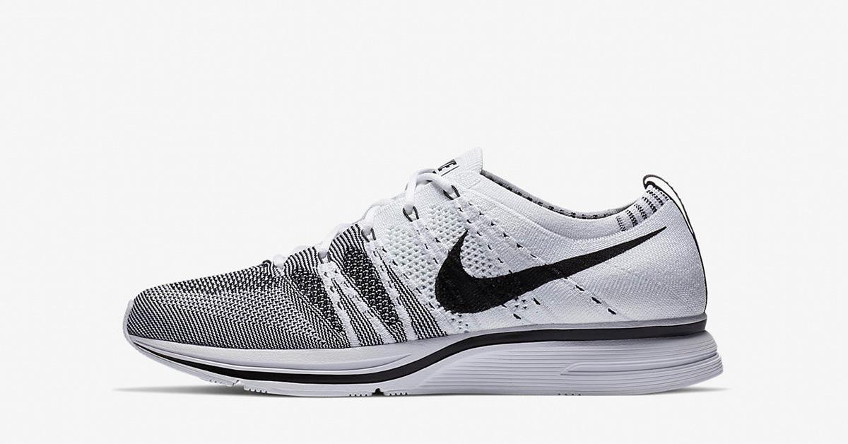 Nike Flyknit Trainer White Black
