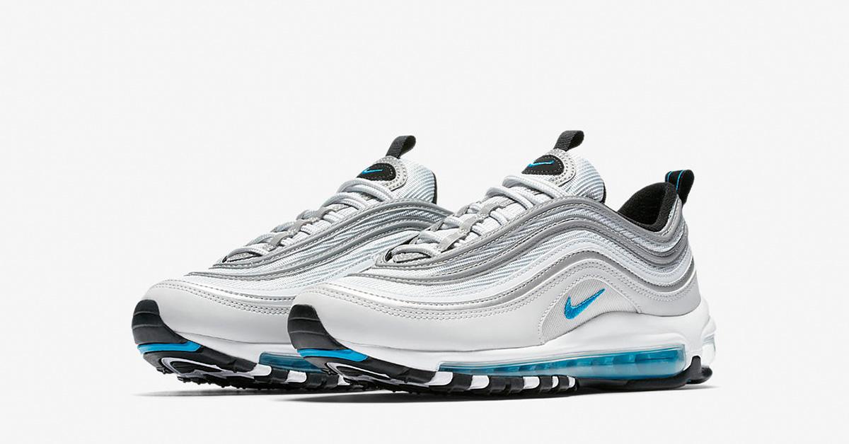 Womens Nike Air Max 97 Pure Platinum Metallic Silver