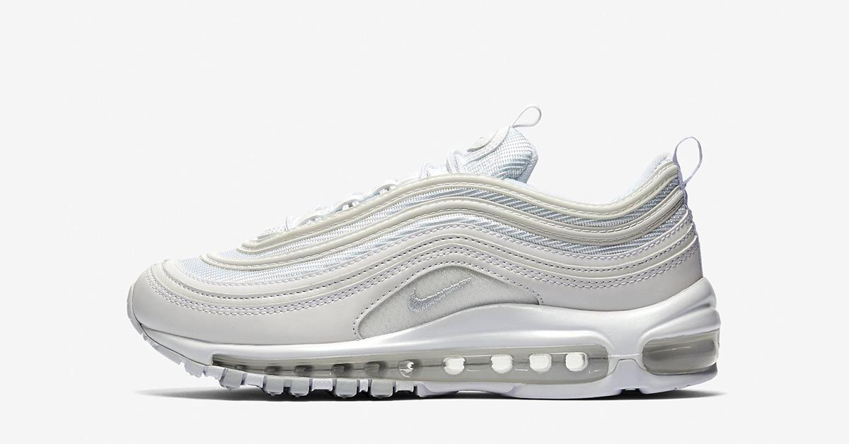 Womens Nike Air Max 97 White Pure Platinum