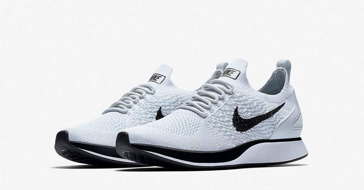 Womens Nike Air Zoom Mariah Flyknit Racer Premium Pure Platinum Black