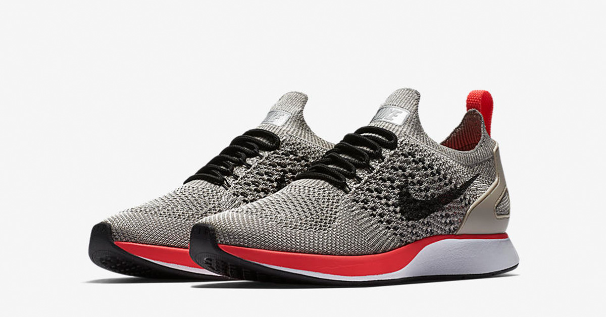Womens Nike Air Zoom Mariah Flyknit Racer Premium String Solar Red