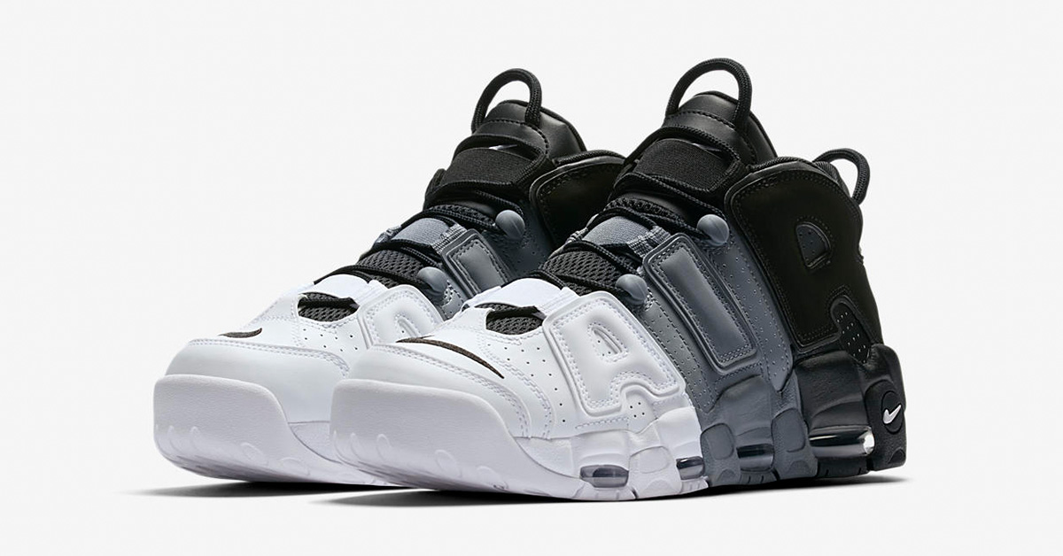 Nike Air More Uptempo Black White Cool Grey