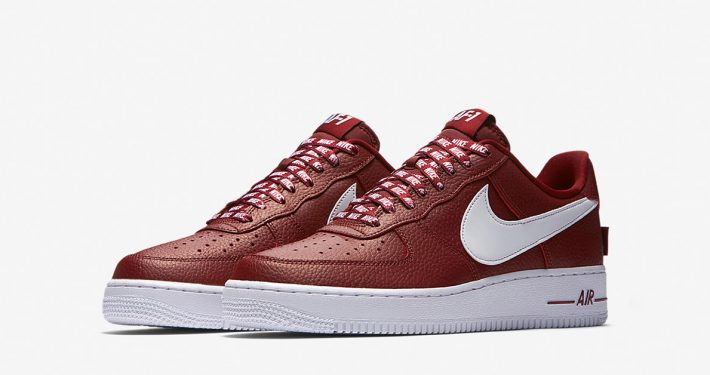 Nike Air Force 1 Low NBA University Red Black White