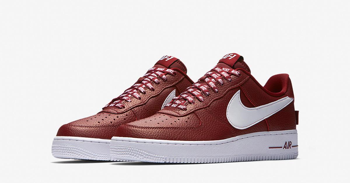 sale retailer 6e3db 92589 Nike Air Force 1 Low NBA University Red Black White - Next Level Kickz