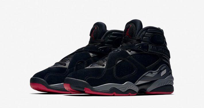 Nike Air Jordan 8 Retro Black Gym Red