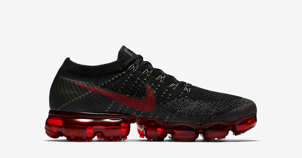 Nike Air VaporMax Black Dark Team Red