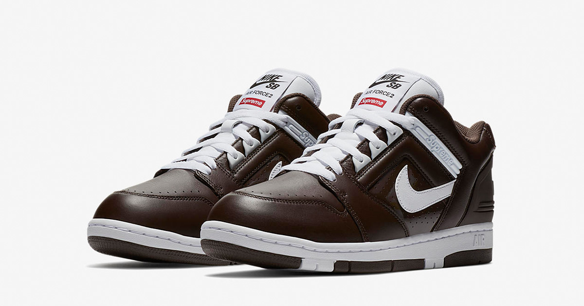 Supreme x Nike SB Air Force 2 Low Baroque Brown