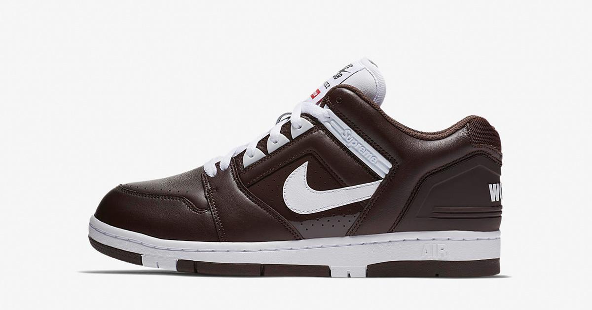 Supreme x Nike SB Air Force 2 Low Baroque Brown
