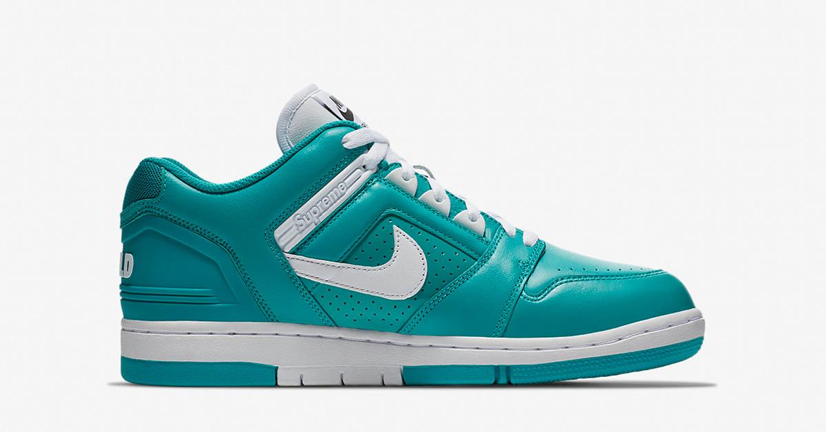 Supreme x Nike SB Air Force 2 Low New Emerald