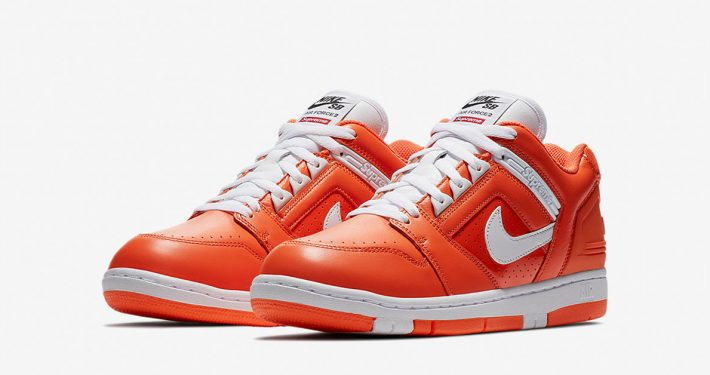 Supreme x Nike SB Air Force 2 Low Orange Blaze
