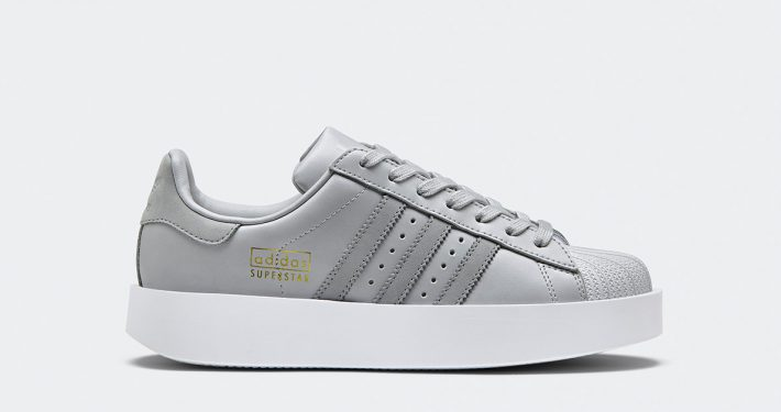 Womens Adidas Superstar Bold Grey