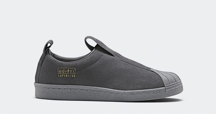 Womens Adidas Superstar BW Slip-On Grey