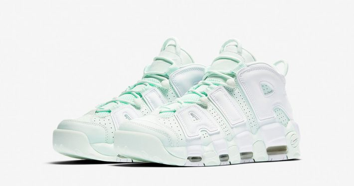 Womens Nike Air More Uptempo Barely Green White