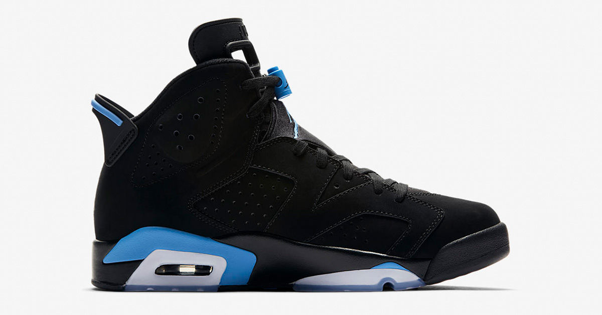 Nike Air Jordan 6 Black University Blue 384664-006