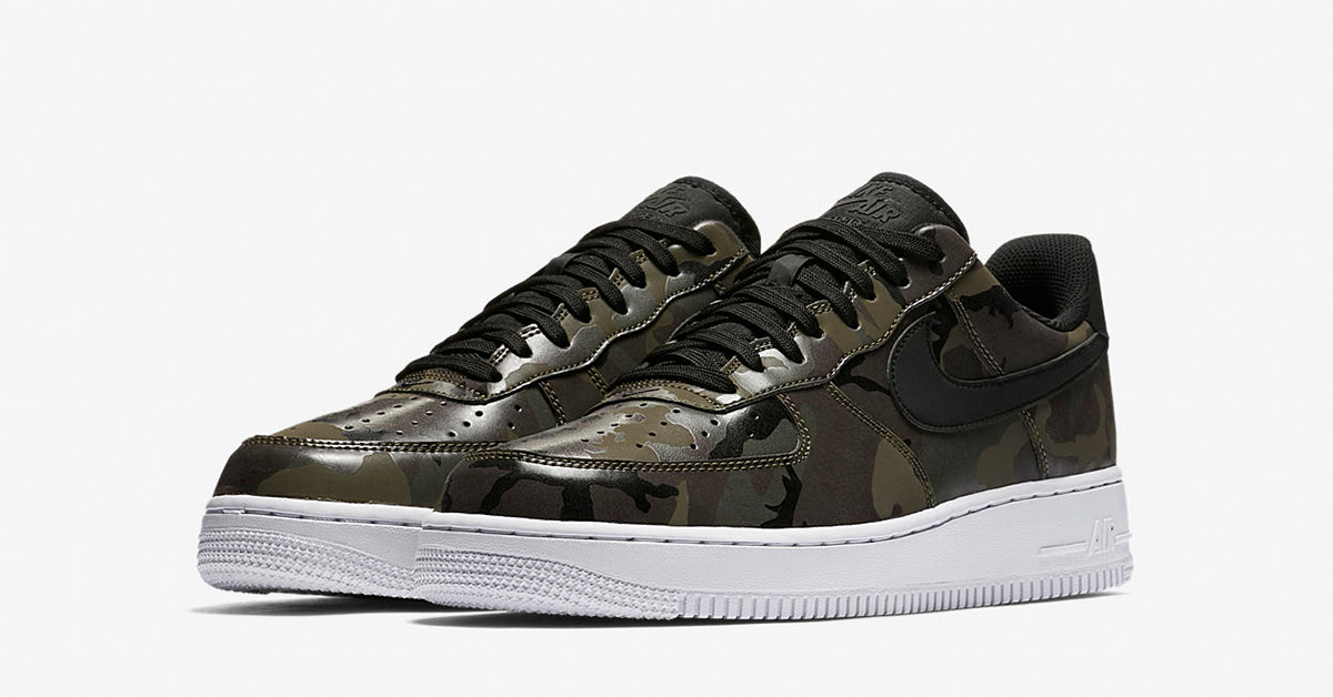 Nike Air Force 1 Low Medium Olive Black Camo 823511-201
